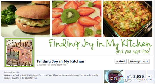 Finding Joy in My Kitchen Facebook Page