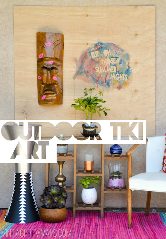Simple Outdoor Summer Tiki Art @ VintageRevivals