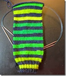 Shades of Green - Sock 1B