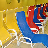 lawn chairs at the olympia pool in Seefeld, Tirol, Austria