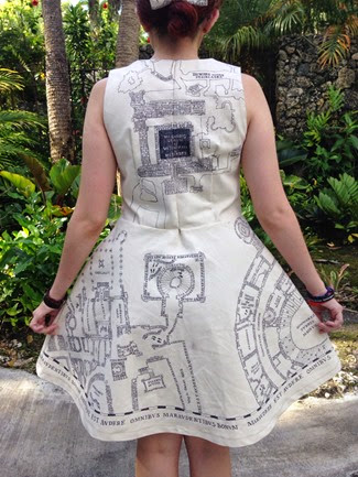 DIY Marauder's Map Dress by permets-tu