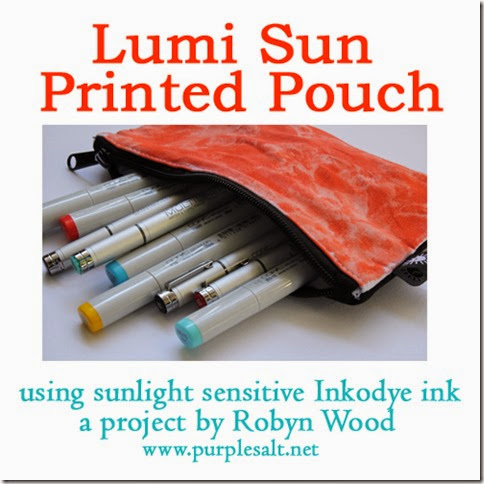 Lumi sun printed pouch by Robyn Wood, Purple Salt, www.purplesalt.net