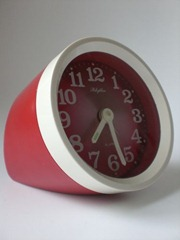 Rhythm alarm clock, red