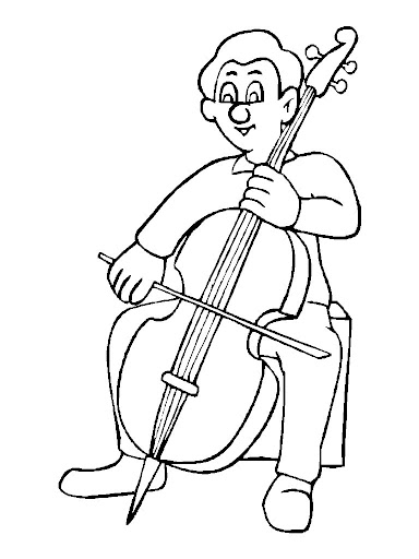 free cello coloring pages-#17