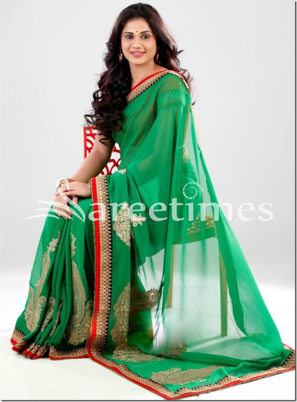 Hudasha_Green_Fancy_Saree