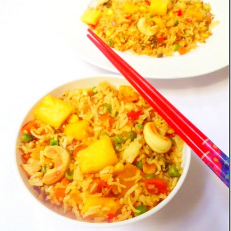 Vegetarian Pineapple Fried Rice