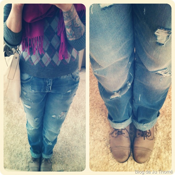 look sueter jeans boyfriend