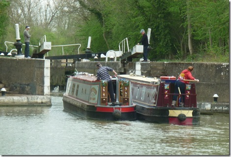 entering stockton top lock