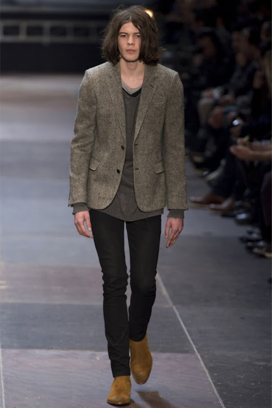 saint laurent grey black brown