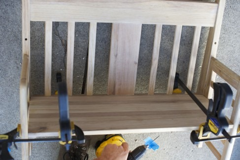 clamps toddler bed bench