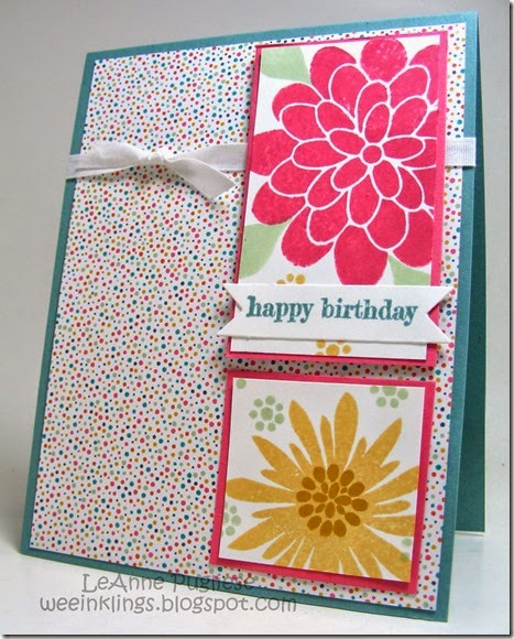 LeAnne Pugliese WeeInklings Flower Patch Stampin Up Birthday Something to Say