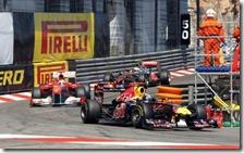 Vettel, Alonso e Button nel gran premio di Monaco 2011