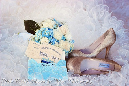 Invite, Bouquet, Shoes, Dress