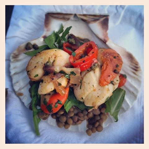 #174 - Theo Randall's scallops and lentils at Taste of London