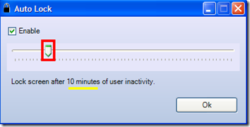 ScreenBlur blocco automatico dello schermo