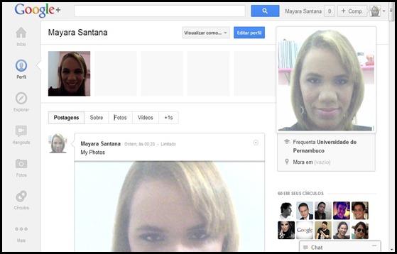 Perfil no Google