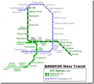 BTS map, Bagkok