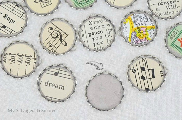 vintage ephemera jewelry