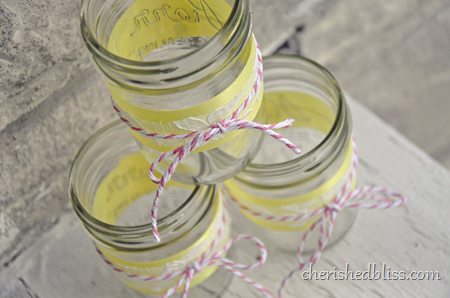 Pink Lemonade Mason Jars