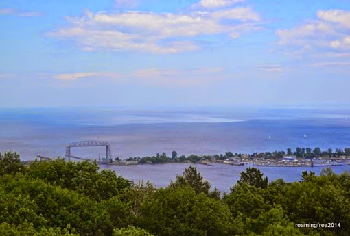Lake Superior and the Aerial Lift Bridge