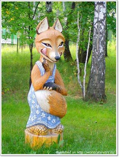 Деревянные садово-парковые скульптуры Сергея Лебедева