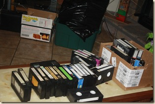 a third of old tapes