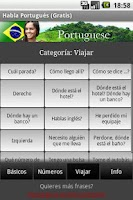 Screenshot of Talk Portuguese (Free)