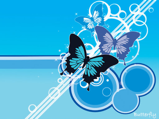 Blue Butterfly Desktop Wallpaper