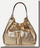Michael Kors Gold Hobo Handbag
