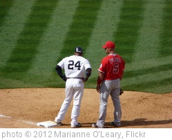 'Robinson Cano and Albert Pujols on first base' photo (c) 2012, Marianne O'Leary - license: http://creativecommons.org/licenses/by/2.0/