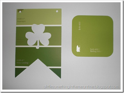Shamrock Paint Chip Banner Tutorial Step 2