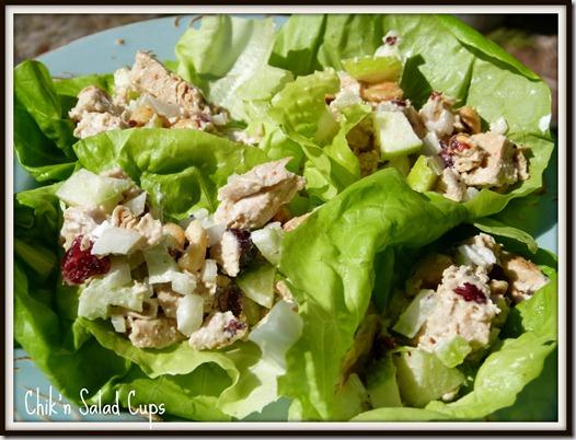 Chik'n Salad Cups