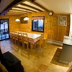 Salle à manger 1er étage chalet L'Orée du Bois - Location - Les Carroz