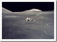 Lunar landscape. Photo - (c) NASA, Apollo 17
