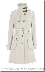 Karen Millen Posh cotton coat