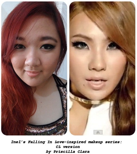 Priscilla CL 2ne1 Falling in Love inspired makeup look CL