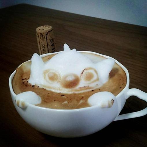 Arte em café