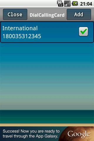 Dial Calling Card