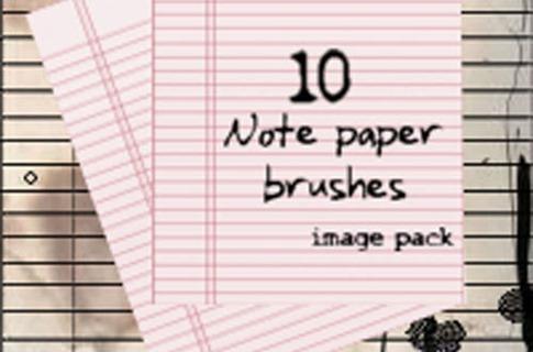Pinceles de notas de papel