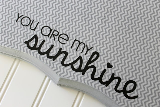 you are my sunshine vinyl lettering