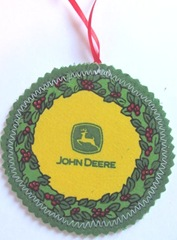 2011 fabric ornament back side john deere