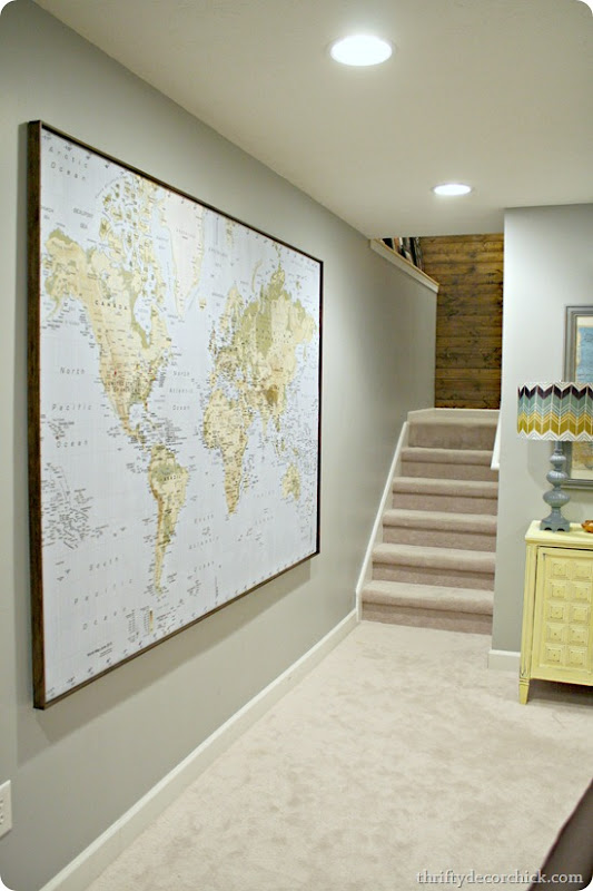 Where in the world have we been map from thrifty decor chick im loving maps lately obviously i realized after it was all done that i have two hanging right next to each other down there oh well gumiabroncs Images