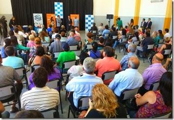 El acto tuvo lugar en la escuela técnica de Santa Teresita