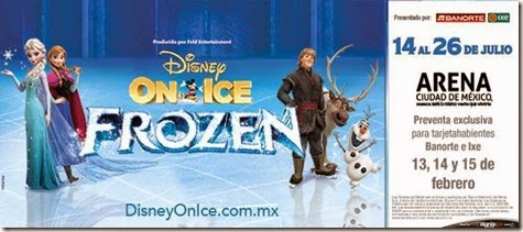 venta de boletos Disney on Ice Frozen en mexico