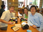 CET TA Fellow Meeting with Faculty Mentor. From left to right: Dr. John Walsh, Erica Pitsch, me.