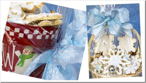 snowflake gift baskets