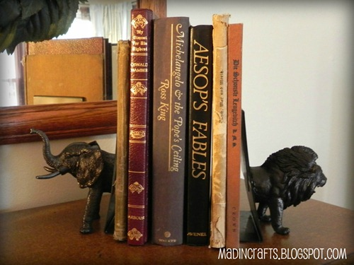 faxu bronze animal bookends