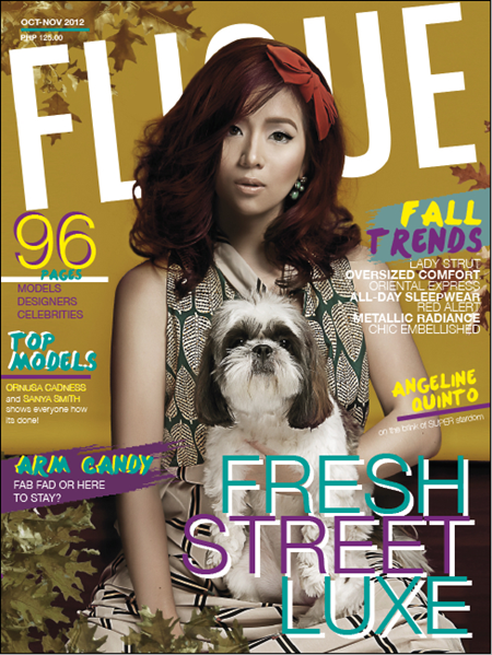 Angeline Quinto covers Flique Oct-Nov 2012