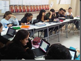 sts on netbooks in class
