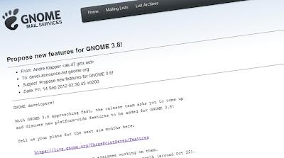 Proposte le nuove funzionalità di GNOME 3.8